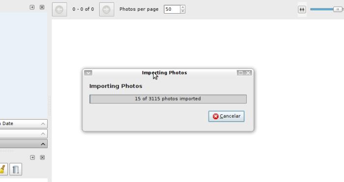 Solang, importando fotos