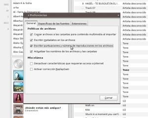 Banshee almacenar puntuación y num. reproducción en tags